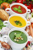 Traffic light soups Stock Photos
