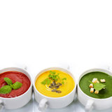 Traffic light soups Stock Images