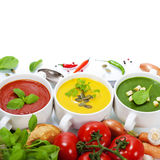 Traffic light soups Royalty Free Stock Images