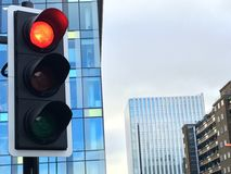 Traffic Light with Stop light on Stock Image