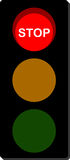 Traffic Light stop signal Royalty Free Stock Image
