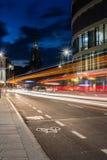 Traffic Light Streaks Neu Ulm Münster Curve City Street Stock Photography