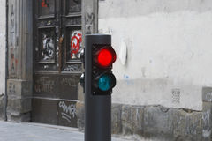 Traffic light on street Royalty Free Stock Photo
