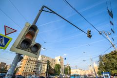 Traffic light system royalty free stock photos