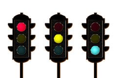 Traffic-light, three colors Stock Image