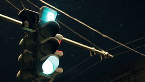 Traffic light timelapse stock video