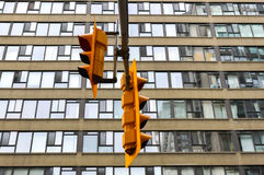 Traffic light in Toronto downtown royalty free stock images