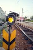 Traffic light. On the railway Stock Photo