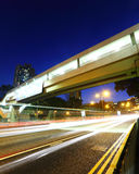 Traffic Light Trail on Highway Royalty Free Stock Photos