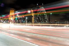 Traffic light trail Royalty Free Stock Image