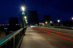 Traffic light trails Royalty Free Stock Photography