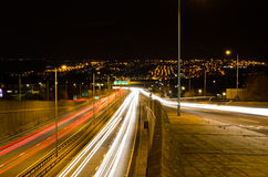 Traffic light trails Stock Photos