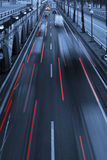 Traffic light trails  abstract Royalty Free Stock Image