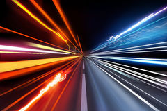 Traffic Light Trails Royalty Free Stock Images