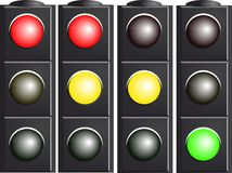 Traffic Light. Variants. Stock Image