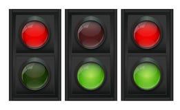 Traffic Light Vector Illustration Stock Photos