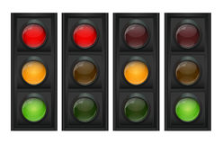 Traffic Light Vector Illustration Royalty Free Stock Image