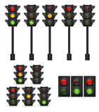 Traffic Light Vector Illustration Royalty Free Stock Photos