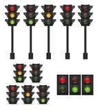 Traffic Light Vector Illustration Royalty Free Stock Photos