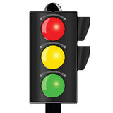 Traffic light vector illustration. On white background Royalty Free Stock Photography