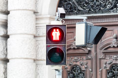 Traffic light Vienna for more tolerance Stock Photo