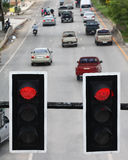 Traffic light. Waiting for the Traffic Light to turn green downtown Stock Photo