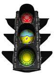 Traffic light of weather Royalty Free Stock Images