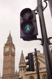 Traffic light at Westminster, London Stock Photos