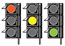 Traffic light on white Royalty Free Stock Image