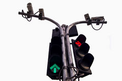 Traffic light. In white background Stock Photos
