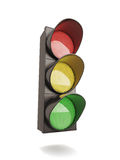 Traffic light on white Royalty Free Stock Images