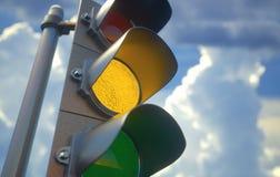 Traffic Light Yellow Royalty Free Stock Image
