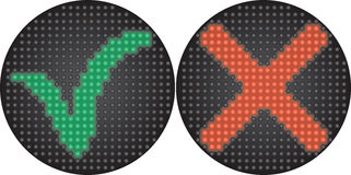 Traffic light Yes or No Royalty Free Stock Photo