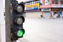 Traffic Lights. In Chiang Mai City Northern Thailand Stock Photography