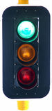 Traffic lights. Show green - conceptually useful - isolated on white royalty free stock photos
