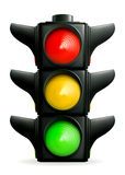 Traffic lights. Computer illustration, isolated on the white stock illustration