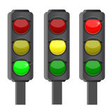 Traffic lights. Isolated on the white background Royalty Free Stock Photos