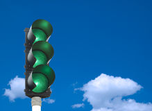 Traffic lights stock photo