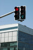 Traffic lights. In the city Stock Photography