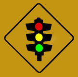 Traffic Lights. Sign Royalty Free Stock Image