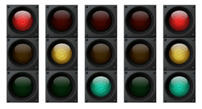 Traffic lights. Computer generated traffic light composition Vector Illustration