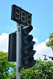 Traffic lights against blue sky background. Royalty Free Stock Photos