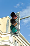 Traffic lights against sky Stock Photos