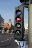Traffic lights for bicycles Royalty Free Stock Photo