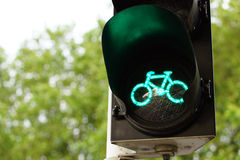 Traffic lights for bicycles Stock Image