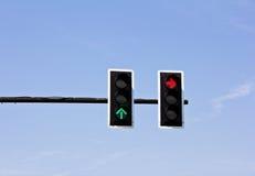 Traffic lights. On blue sky background Stock Images