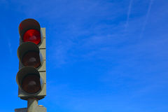 Traffic lights. With blue sky background Royalty Free Stock Photo