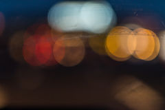Traffic lights. Blurred in the night Royalty Free Stock Photography