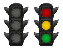 Traffic lights for cars vector illustration Stock Photography