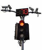 Traffic lights with CCTV. Traffic safety in the capital Stock Photography